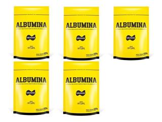 5x Albumina 500g Naturovos - Envio 1 Dia Útil Após Aprovação