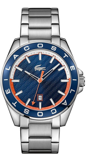 Relógio Lacoste Original Prata Modelo 2010886