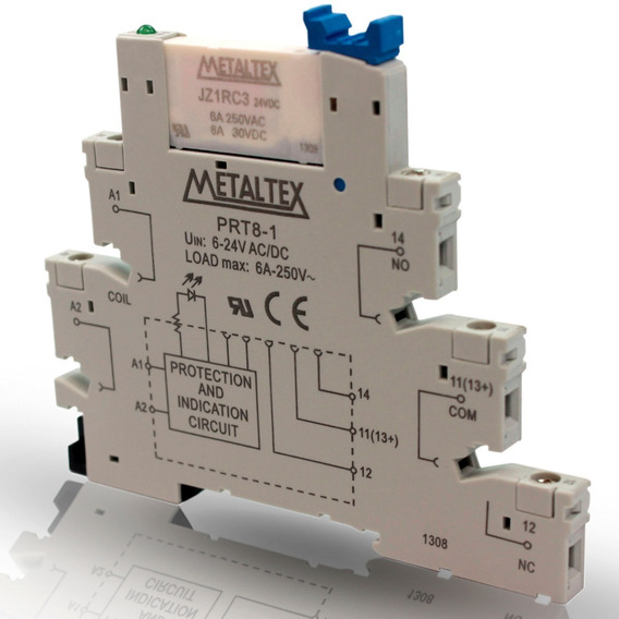 Relé Interface 24v Metaltex Prz-1r-24 (kit Com 10 Peças)