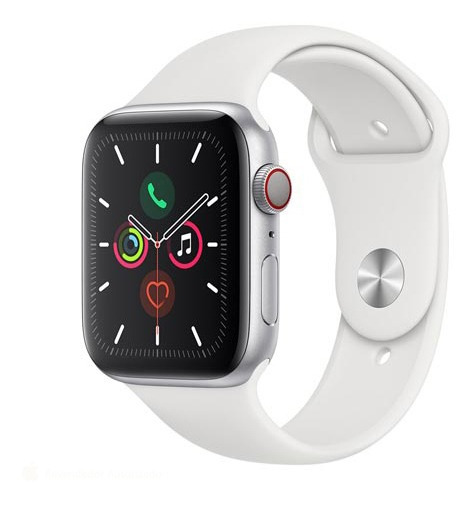 Apple Watch Sport Prata Com Pulseira Esportiva Branca