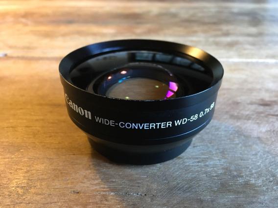 Lente Cânon Wide Converter Wd-58 0.7x58