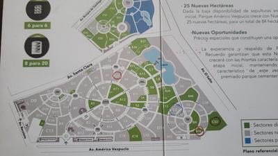 Vendo Sepultura En Parque Del Recuerdo. 4 Capacidades. Dueña