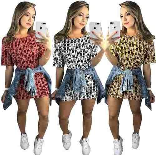 Vestido Blusão Quadriculado Curto Midi Outono Blogueira 2019