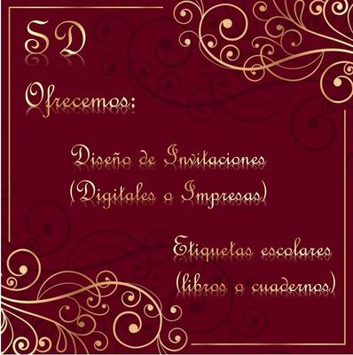 Diseño E Impresion De Invitaciones Y Etiquetas