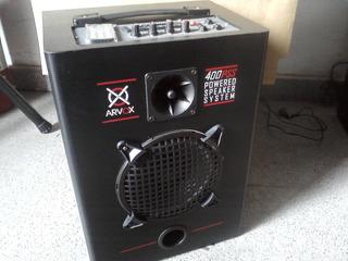 Bafle Arvox Amplificado C / Bluetooth, Usb, Tarj. Sd, Y Fm