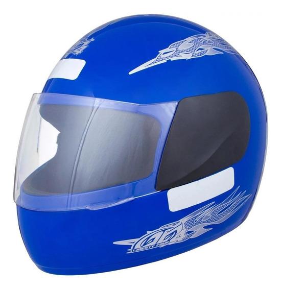 Capacete para moto integral Pro Tork Liberty Four azul tamanho 58