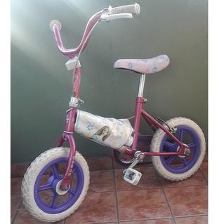Bicicleta Rosa Barbie Sin Rueditas - Original