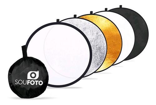 Rebatedor Fotográfico Refletor Difusor 5 Em 1 Sou Foto 60cm