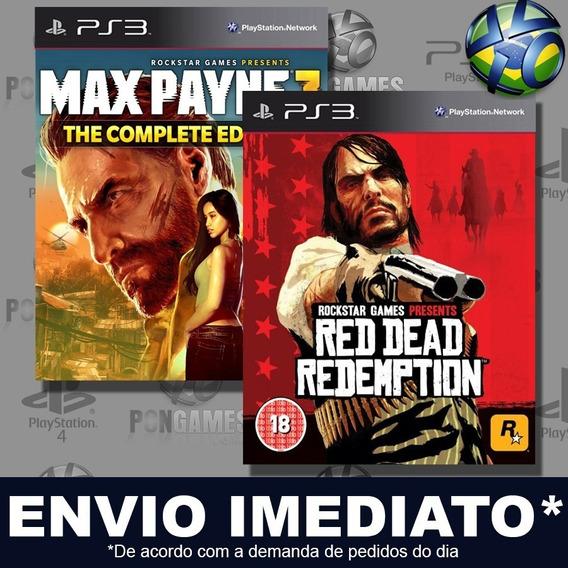 Max Payne 3 E Red Dead Combo 2 Jogos Ps3 Psn Promoção Play 3