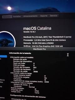 Macbook Pro 2017 13 256gb Ssd 16gb Ram Como Nueva En Caja