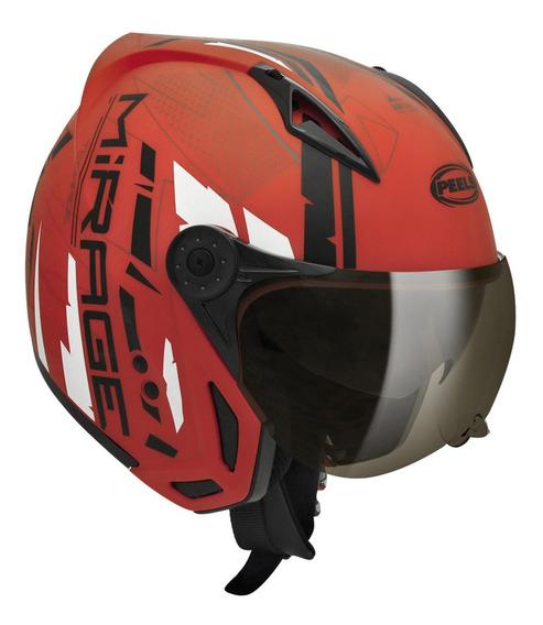 Capacete para moto multi-modular Peels Mirage Techride vermelho tamanho 60
