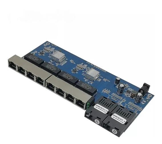 Switch Placa Rede Metro Giga Gigabit 1000mb Gbic A B-8p Rj45