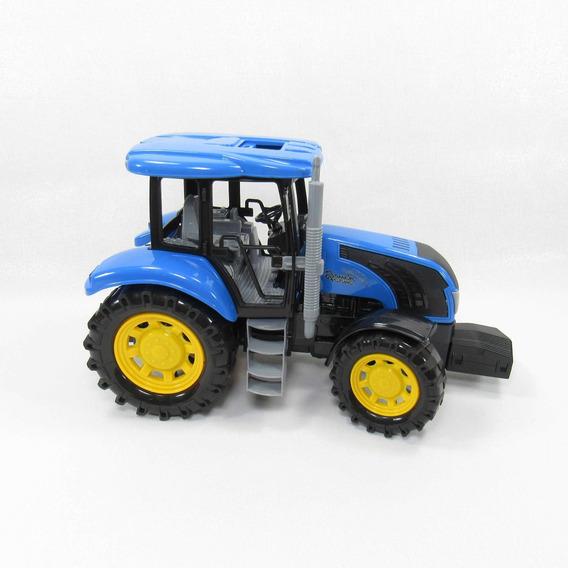 Tractor De Friccion Azul Juguete Niños