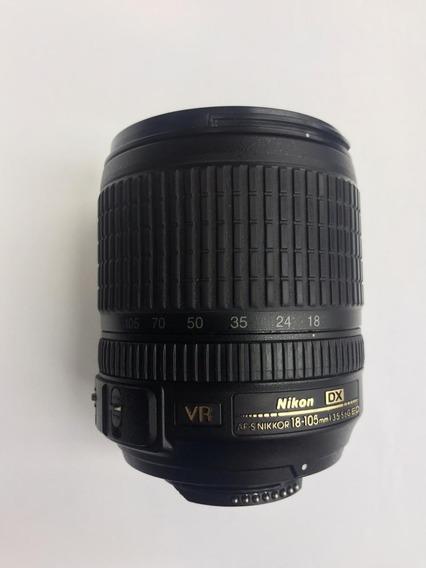 Lente Nikon Afs 18 105mm F 3.5 5.6g Ed Dx If + Parasol
