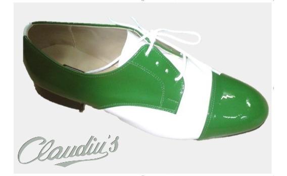 Sapato De Cadarço Masculino Claudiu´s Ref. 352 Couro Color