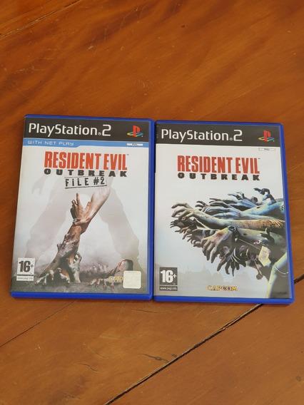 Resident Evil Outbreak 1 E File 2 Ps2 Europeu Original