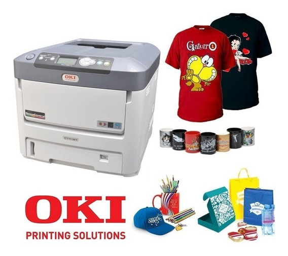 Impressora Laser Colorida Okidata C711 Wt Com Toner Branco