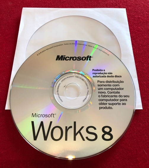 Cd Original Microsoft Works 8