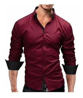 Comprando 3 Frete Grátis - Camisa Social Slim Fit Urban