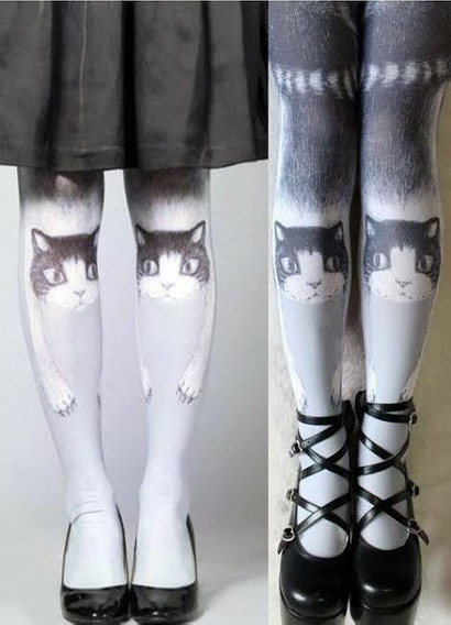 Pantimedias De Gato Mágico Medias Kawaii Lolita Gothic,
