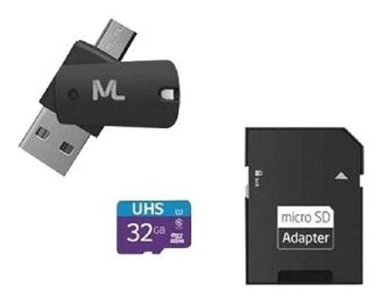 Cartão De Memória 4x1 Multilaser 32gb Com Adaptador