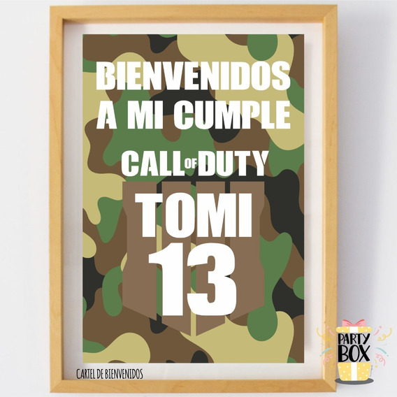 Kit Imprimible Call Of Duty Playstation Militar