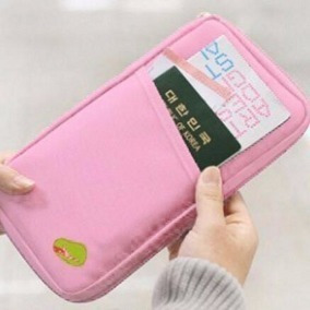 Organizador Grande Portadocumentos Pasaporte Viaje Auto Dni Papeles Documentos Tarjetas