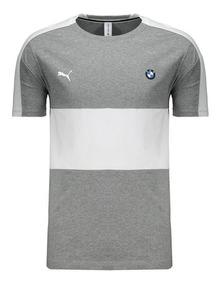Camiseta Puma Bmw Motorsport T7 Cinza E Branca