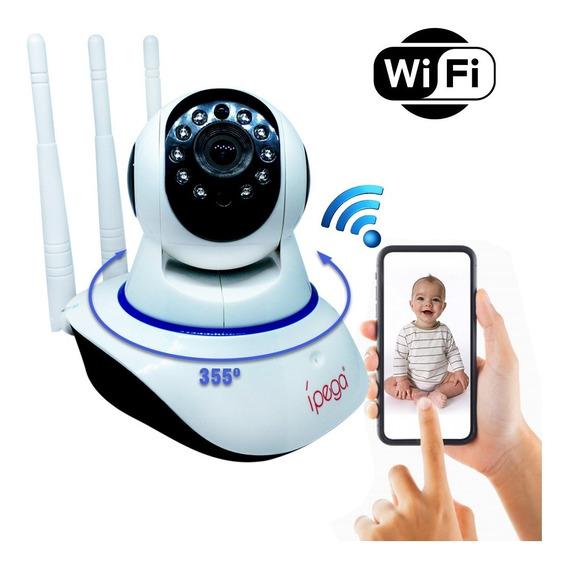 Câmera De Segurança Sistema Android -ios - 3 Antenas - Ipega