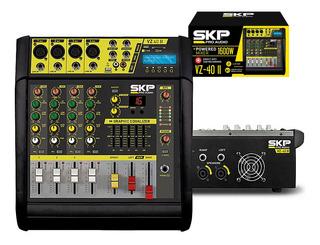 Consola Mixer Potenciada Skp Vz40 Ii 4 Ch Mp3 Usb