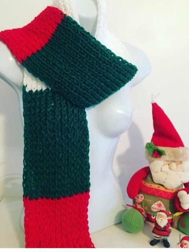 Bufandas De Navidad ( Angora - Neddles)