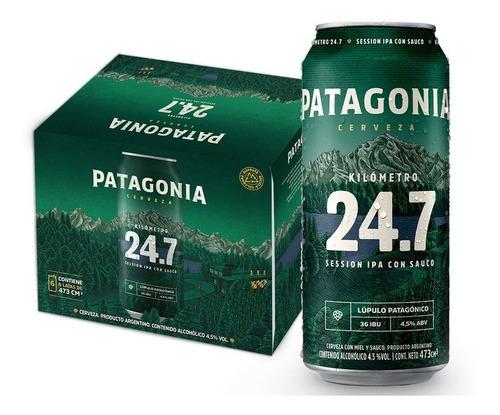 Imagen 1 de 1 de Cerveza Patagonia 24.7 473ml Pack X6 Latas