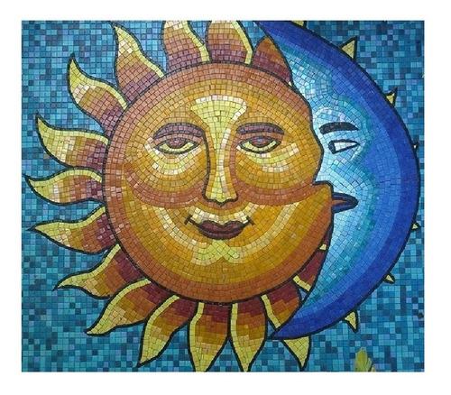 Imagen 1 de 10 de Mosaico Figura Eclipse De 1.00 Mt, Diámetro Para Alberca