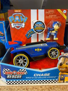 Paw Patrol Chasse Muñeco Más Auto Con Sonido