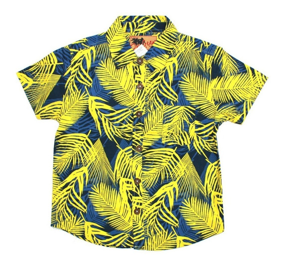 Camisa Hawaiana 100% Algodón Para Niño