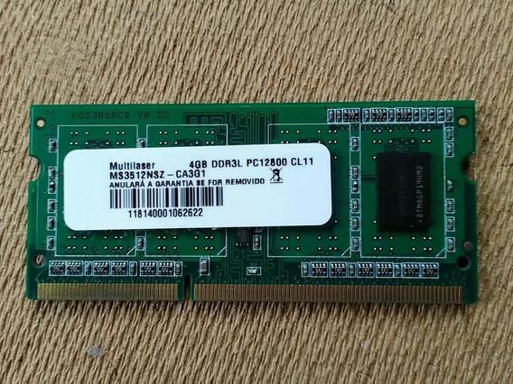 Memoria 4gb Ddr3 Multilaser Para Notebook Pc-12800 - 1600mhz