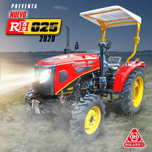 Tractor Roland H 4x4 25 Hp, Levante 3 Puntos, Toma De Fuerza