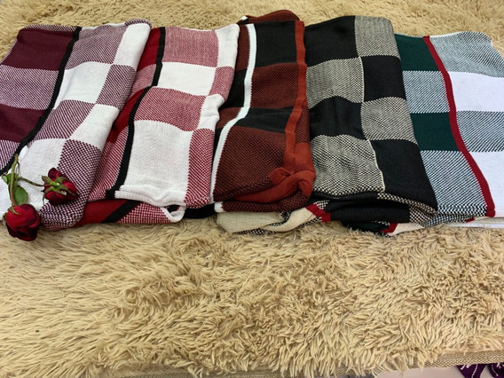Blusa De Frio Casco Suéter Tricô Xadrez Moda Britânica