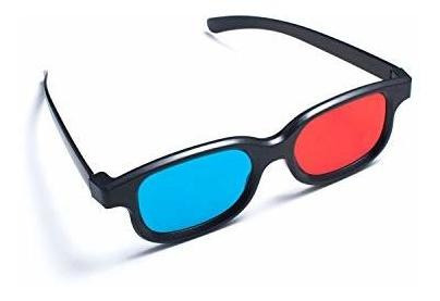 2 Pair 3D Anaglyph Glasses Blue Red Half Cool Frame