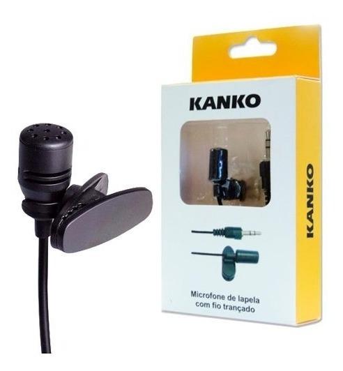 Microfone De Lapela Stereo Profissional P/ Youtubers Kanko