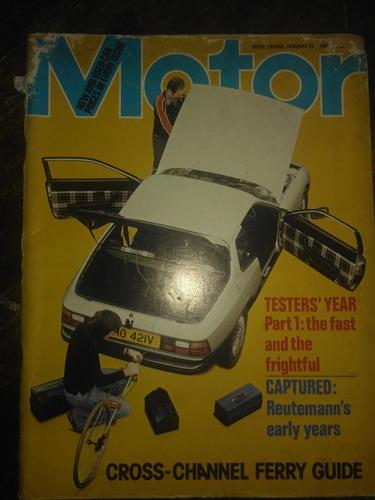 Revista Motor (inglesa) Janeiro 1980 - Porsche 924 Turbo
