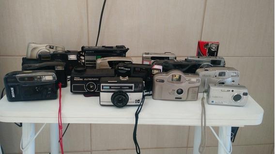 Lote Máquinas Fotográficas Com 14 Unidades
