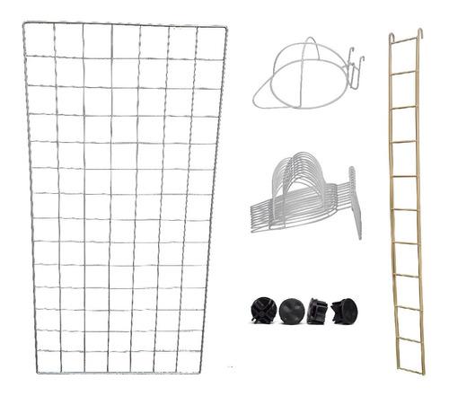 Imagen 1 de 10 de Paquete 10 Ganchos Portagorra-4 Rejilla 50x100cm-1 Rejilla 10x100cm-8 Conectores