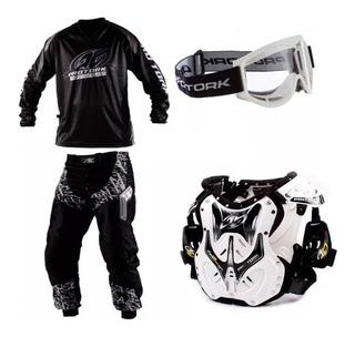 Conjunto Motocross Infantil Inblack + Kit Pro Tork Sportbay