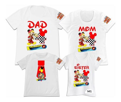 Camiseta Set 4 Familia Mama Papa Hija Mickey Mouse Minnie