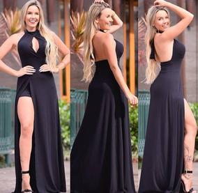 3dbf1c788d Vestido Longo Short Embutido - Vestidos Longos Femininas Preto no ...
