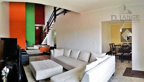 Casa Com 3 Dormitórios À Venda, 312 M² Por R$ 710.000,00 - Loteamento Parque São Martinho - Campinas/sp - Ca3405