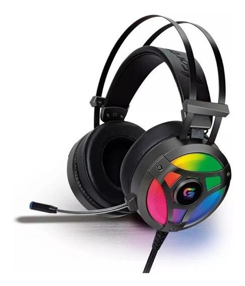 Headset Gamer Fortrek Rgb H1 Pro - Cinza