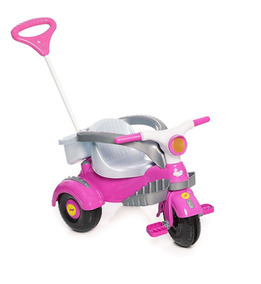 Carrinho Motoca Triciclo Infantil Velocita Rosa Calesita