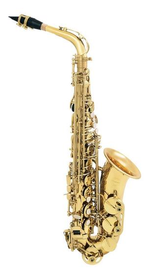 Amw Custom Saxofone Alto Laqueado Eb Mi Bemol + Case . Loja